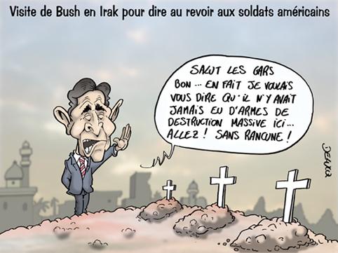 bush-irak1 Récompense pour un pied...