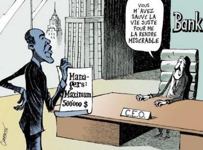 salaire-des-banquiers-plafonnes Salaire des patrons : Laurence Parisot condamne Obama