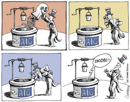 aig AIG paie 450 millions de primes aux responsables de sa chute